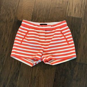 J. Crew Orange Striped Shorts